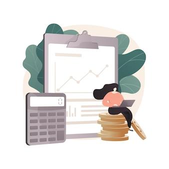 Streszczenie ilustracji rachunkowości w stylu płaski