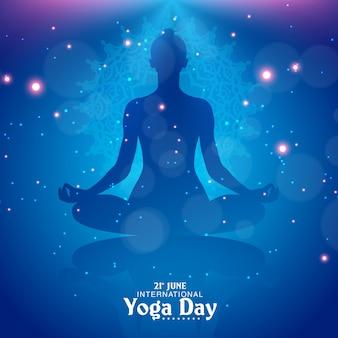 Streszczenie ilustracji wektorowych dzień jogi tle