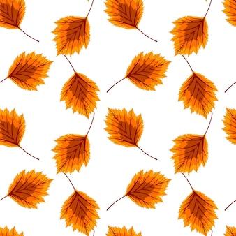 Streszczenie ilustracji wektorowych tło jesień z opadających liści jesienią. wzór. eps10