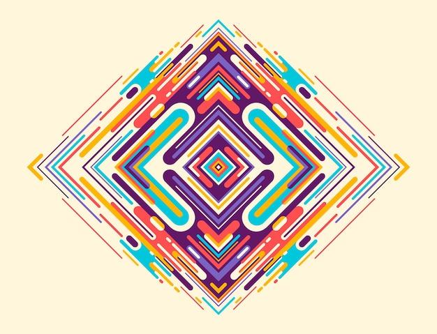 Streszczenie ilustracji z kolorowych kształtów geometrycznych
