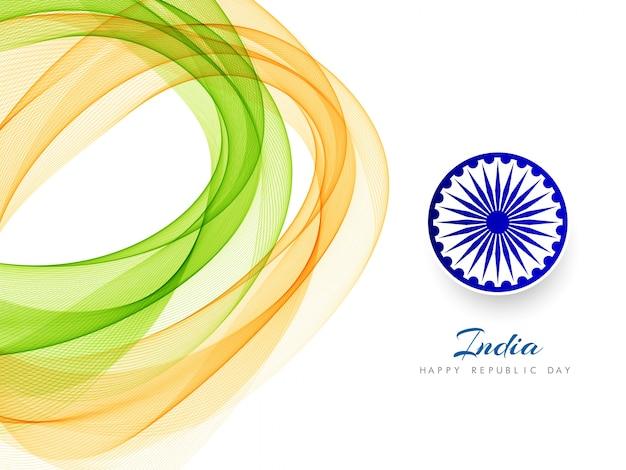 Streszczenie indyjski flaga motyw falisty stylowy tło