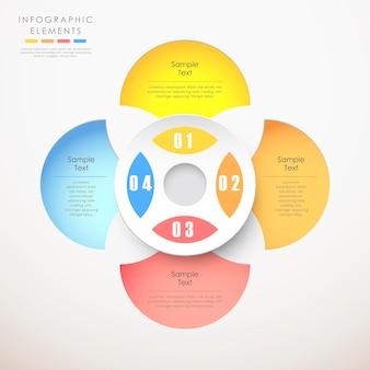 Streszczenie infografika papieru