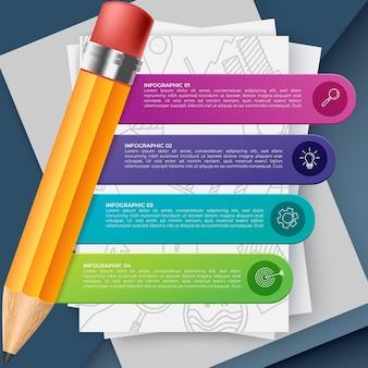 Streszczenie infografiki liczba opcji szablonu. ilustracja wektorowa. może być używany do układu przepływu pracy, diagramu, opcji kroków biznesowych, banera, projektowania stron internetowych.