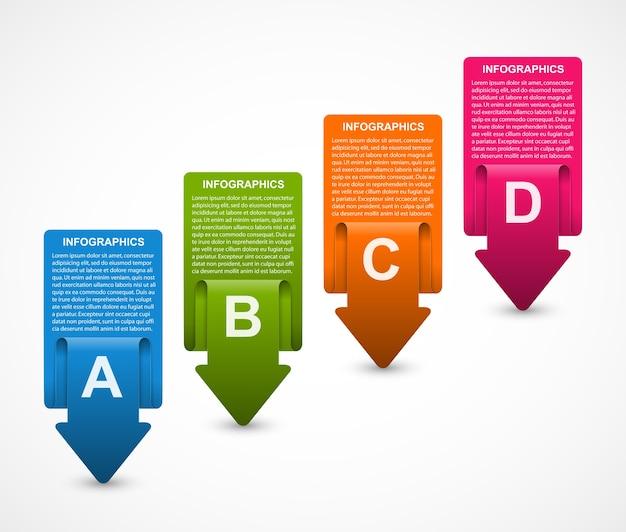 Streszczenie infografiki szablon do prezentacji biznesowych