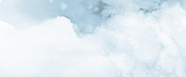 Streszczenie jasnoniebieski akwarela ręcznie malowane na tle. plamy wektor artystyczny używany jako element dekoracyjny nagłówka, plakatu, karty, okładki lub banera. pędzel dołączony do pliku.