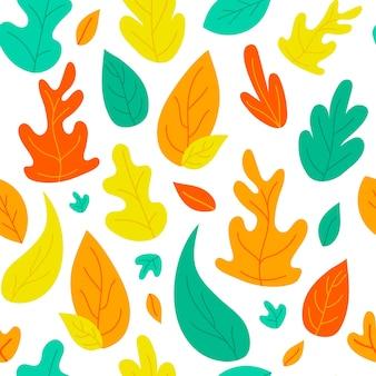 Streszczenie jesienne liście tło wzór zbiory wydruku tekstury