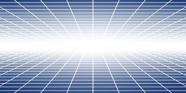 Streszczenie kafelkowe tło z perspektywą w niebieskich kolorach