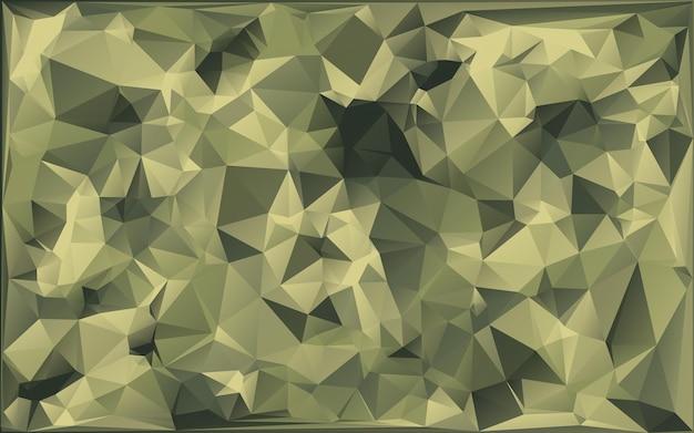 Streszczenie kamuflaż wojskowy wykonany z geometrycznych kształtów trójkątów. styl wielokąta.
