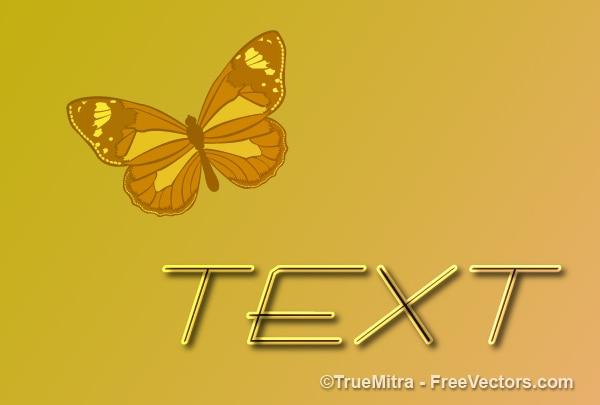 Streszczenie kartka z cute motyl