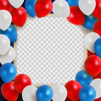Streszczenie kartkę z życzeniami na wakacje tło z czerwonymi balonami