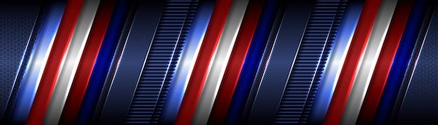Streszczenie klasyczny czerwony geometryczny metalik na ciemnoniebieskim tle
