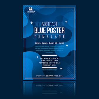 Streszczenie klasyczny niebieski broszura szablon