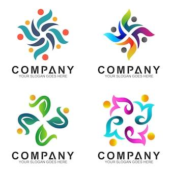 Streszczenie kolekcja logo