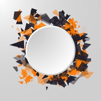 Streszczenie koło baner reklamowy panel infografika tło element prezentacja koncepcja streszczenie tri...