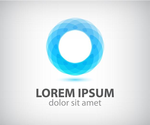 Streszczenie koło kolor pętli ikona, logo na białym tle