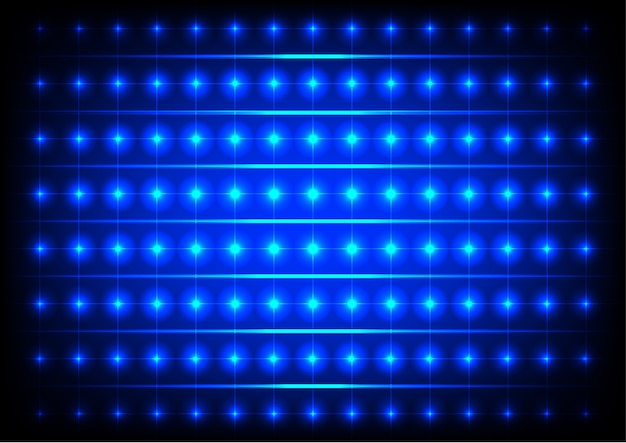 Streszczenie koło niebieskie tło światła