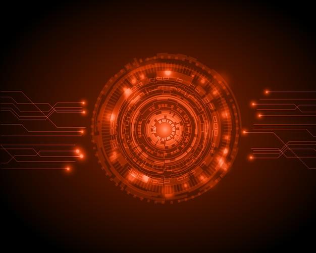 Streszczenie koło technologii cyfrowej tło