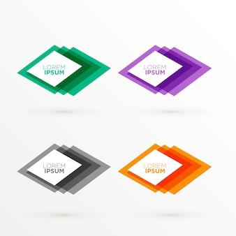 Streszczenie kolorowe banery z miejsca na tekst