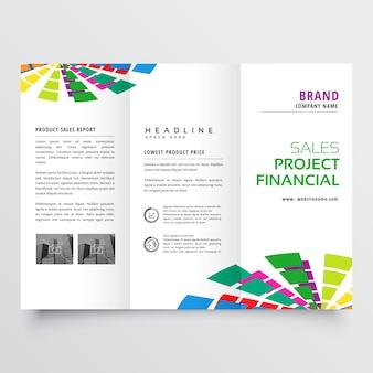 Streszczenie kolorowe broszura szablon projektu ilustracji wektorowych