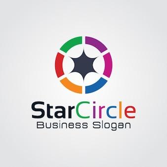 Streszczenie kolorowe heksagram logo