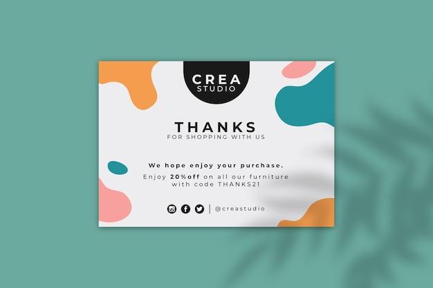 Streszczenie kolorowe karty projektu