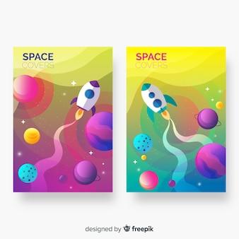 Streszczenie kolorowe kosmos obejmuje