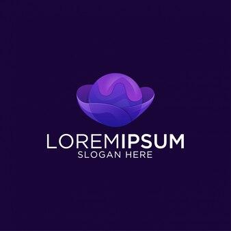 Streszczenie kolorowe kreatywne i nowoczesne logo szablon premium