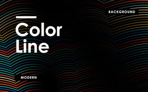 Streszczenie kolorowe linie tła