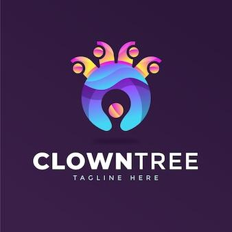 Streszczenie kolorowe logo szablon