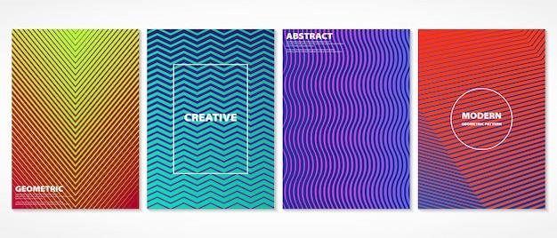 Streszczenie kolorowe minimalne geometryczne obejmuje wzór.