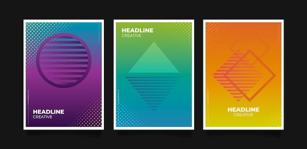 Streszczenie kolorowe okładki koncepcji