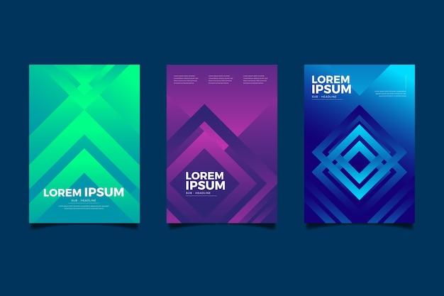 Streszczenie kolorowe okładki z kształtami