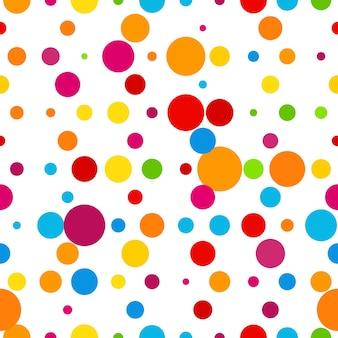 Streszczenie kolorowe okrągłe świętowanie bezszwowe tło wektor ilustracja szablon
