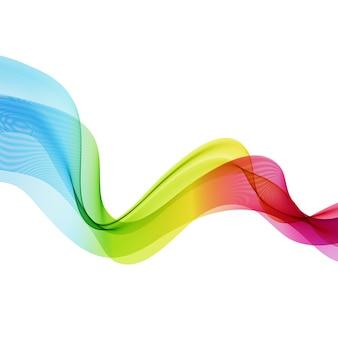 Streszczenie kolorowe przezroczyste fale.