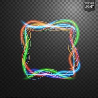 Streszczenie kolorowe ramki światła