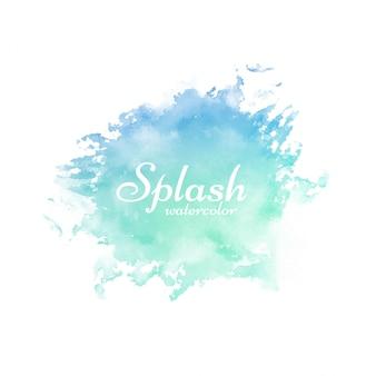 Streszczenie kolorowe splash akwarela