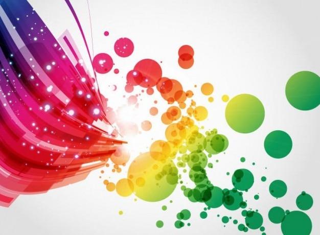 Streszczenie kolorowe sztuka tło wektor