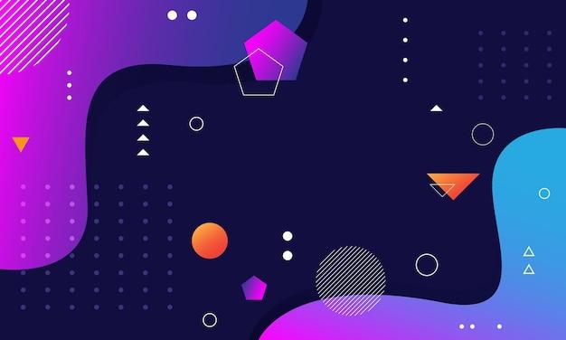 Streszczenie kolorowe tło geometryczne kształty