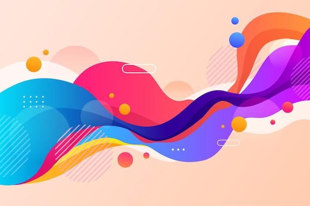 Streszczenie kolorowe tło kształtów