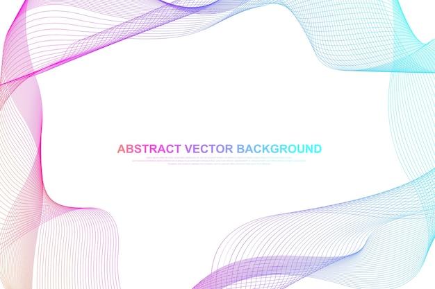 Streszczenie kolorowe tło linie fala. geometryczny szablon projektu broszury, ulotki, raportu, strony internetowej, banera.