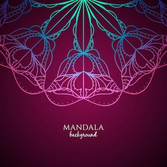 Streszczenie kolorowe tło mandali