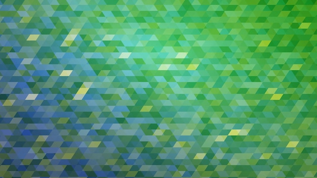 Streszczenie kolorowe tło mozaiki gradientowej w zielonych kolorach