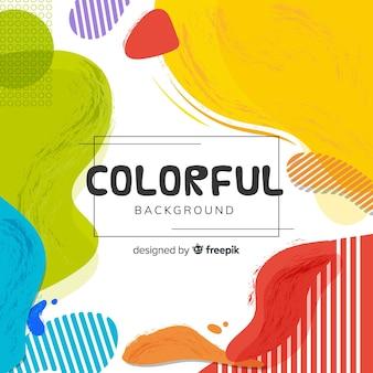Streszczenie kolorowe tło w kształcie