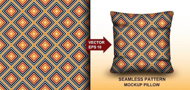 Streszczenie kolorowe tło wzór bez szwu retro lat 70. projekt poduszki, nadruku, mody, odzieży, tkaniny, opakowania na prezent. makieta szablon poduszki wzór.
