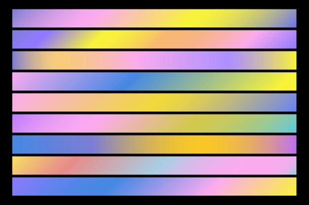 Streszczenie Kolorowe Tło Wzór Gradientu. Proste Elementy Liniowe Premium Wektorów