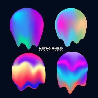 Streszczenie kolorowe topniejące sferach