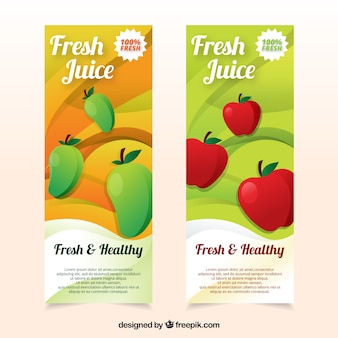 Streszczenie kolorowe transparenty z owoców