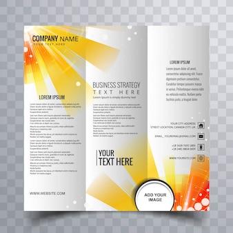 Streszczenie kolorowe trifold brochure projektowania