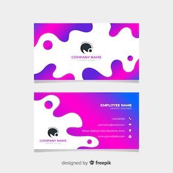 Streszczenie kolorowe wizytówki szablon