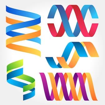 Streszczenie kolorowe zbiory składane wstążki